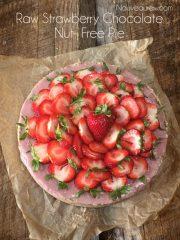 Strawberry Chocolate Pie  (raw, vegan, gluten-free)