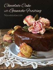 Flourless Chocolate Cake with Ganache Frosting  (raw, vegan, gluten-free)