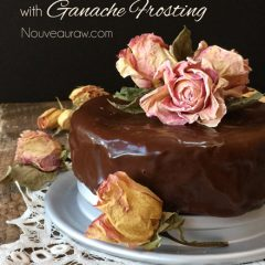 raw, vegan, gluten-free chocolate cake and frosting