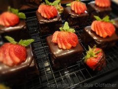 Chocolate Cake with Strawberry Apricot Jam  (raw, vegan, gluten-free)