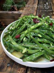Fresh Green Bean Salad (raw, vegan, gluten-free, nut-free)