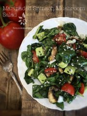 Marinaded Wilted Spinach Mushroom Salad (raw, vegan, gluten-free, nut-free)