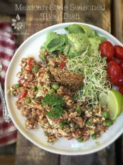"Mexican Style Seasoned ""Rice"" Dish (raw, vegan, gluten-free, grain-free, nut-free)"