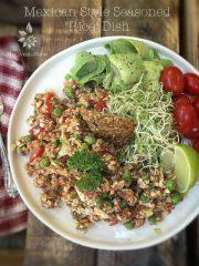 "Mexican Style Seasoned ""Rice"" Dish (raw, vegan, gluten-free, grain-free, nut-free)"