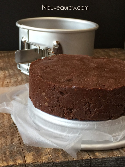 Run a knife around the edge of the pan to loosen the cake. Or if using a spring form pan, remove the outer ring