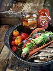Red Pepper & Corn Tortilla Wraps (raw, vegan, gluten-free, nut-free)
