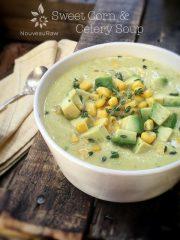 Chilled Sweet Corn & Celery Soup (raw, vegan, gluten-free, nut-free)