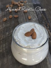 Almond Ricotta Cheese (raw, vegan, gluten-free)