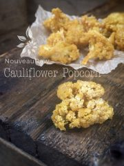 Cauliflower Popcorn (raw, vegan, gluten-free, nut-free)
