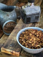 Maple Cinnamon Pumpkin Seeds (raw, vegan, gluten-free, nut-free)