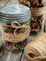 Maple Coconut Craisin Granola (raw, vegan, gluten-free)