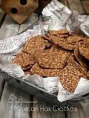 Mexican Flax Crackers (raw, vegan, gluten-free, nut-free)