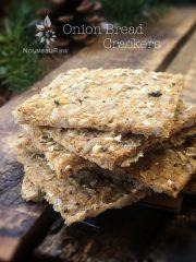 Onion Bread Cracker (raw, vegan, gluten-free, nut-free)