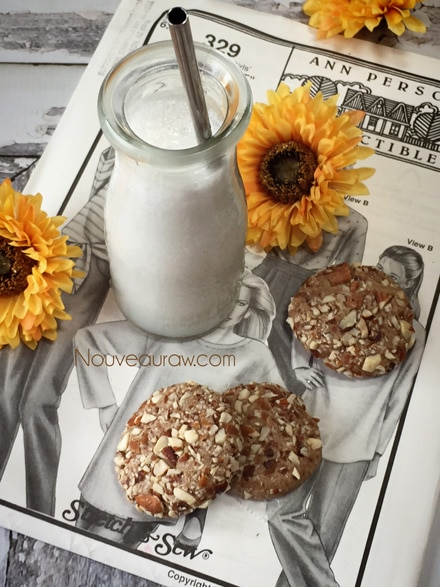 Almond Butter Cookies (raw, vegan, gluten-free)