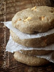 Apple Cinnamon Oatmeal Cookies (raw, gluten-free)