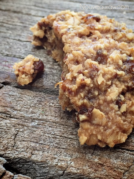 a close up of raw vegan Breakfast Nook Cookies