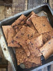 Zesty Italian Flax Crackers (raw, vegan, gluten-free, nut-free)