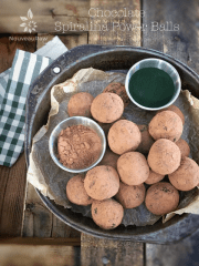 Chocolate Spiralina Power Balls (raw, vegan, gluten-free)