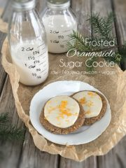 Frosted Orangesicle Sugar Cookie (raw, vegan, gluten-free)