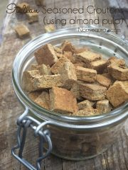 Italian Seasoned Croutons – using almond pulp (raw, vegan, gluten-free)