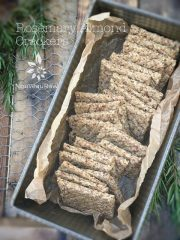 Rosemary Almond Crackers (raw, vegan, gluten-free)