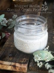 Whipped Vanilla Coconut Cream Frosting (raw, vegan, gluten-free)