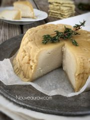 Cultured Almond Cheese with a Rind  (raw, vegan, gluten-free)