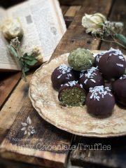 Minty Chocolate Truffles (raw, vegan, gluten-free, nut-free)