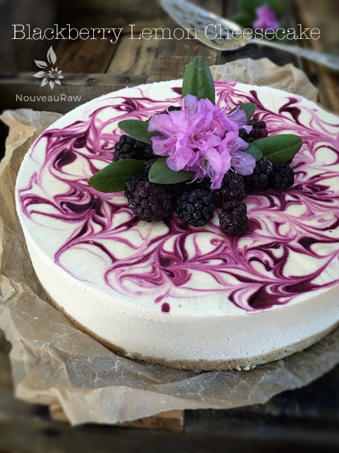 Blackberry Lemon Cheesecake (raw, vegan, gluten-free)