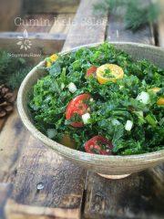 Cumin Kale Salad (raw, vegan, gluten-free, nut-free)