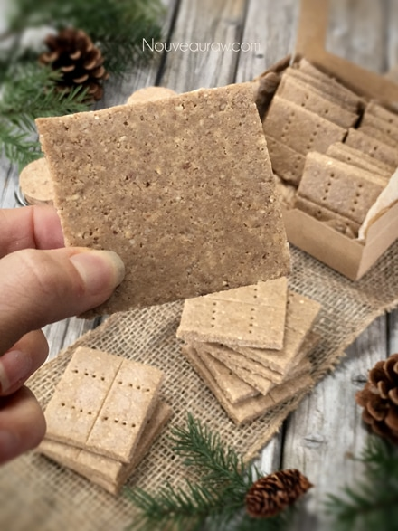 what the raw gluten free Graham Crackers look like on the back side