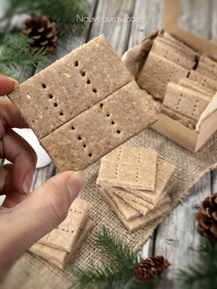 a close up of raw gluten free Graham Crackers