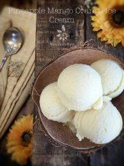 Pineapple Mango Orange Ice Cream (raw, vegan, gluten-free)
