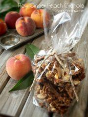 (FREE) Ginger Peach Granola (raw, vegan, gluten-free)