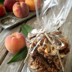 raw, vegan, gluten-free Ginger Peach Granola
