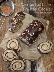 Orange Nut Butter Pinwheel Cookies (raw, gluten-free)