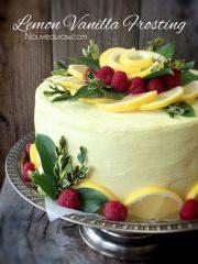 Lemon Vanilla Frosting (raw, vegan, gluten-free)