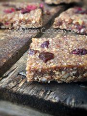 Apple Raisin Cranberry Bars (raw, vegan, gluten-free)