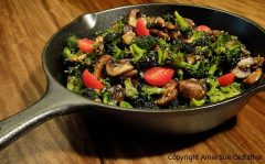 Marinated Broccoli and Mushroom Stir Fry (raw, vegan, gluten-free, nut-free)