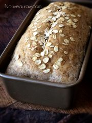 Honey Oat Bread  (raw, vegan, gluten-free)