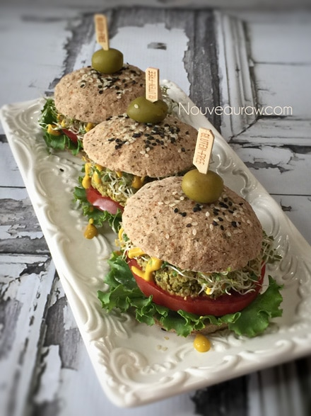 Raw Veggie Burger Buns Recipe