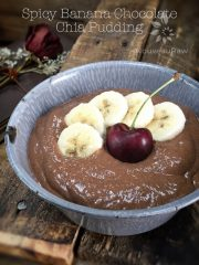 Spicy Banana Chocolate Chia Pudding (raw, vegan, gluten-free, nut-free)