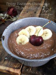 Spicy Banana Chocolate Chia Pudding (raw, vegan, gluten-free, nut-free)