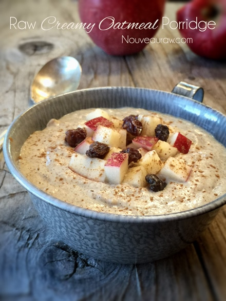 Raw Creamy Oatmeal Porridge