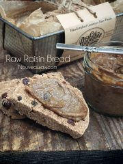 Raisin Bread  (raw, vegan, gluten-free)