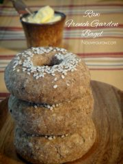 French Garden Bagel  (raw, vegan, gluten-free)