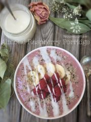 Almond Raspberry Porridge (raw, vegan, gluten-free)