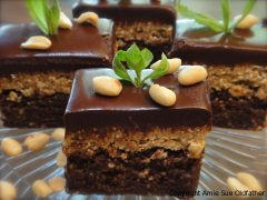 Chocolate Peanut Butter Brownie Bars (raw, vegan, gluten-free)