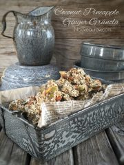 Coconut Pineapple Ginger Granola (raw, vegan, gluten-free)