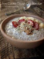 Cookie Dough Oat Porridge (raw, vegan, gluten-free)